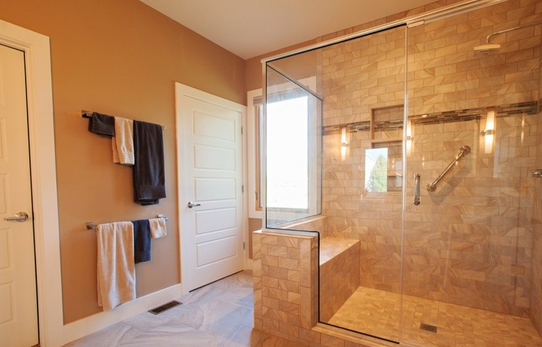 Master Bathroom with beautiful walk-in shower